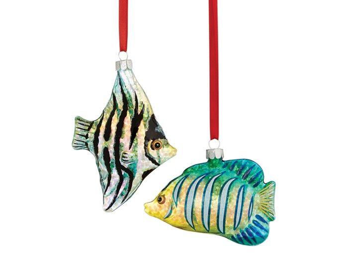 Tropical Fish Christmas Ornaments Rainforest Islands Ferry