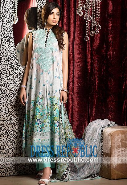 Khaadi Eid Lawn Cotton Outfits Collection 2014 UK  Buy Online Khaadi Eid Lawn Cotton Outfits Collection 2014 in Kirklees and Wolverhampton, United Kingdom. London Phone  44 (0) 208 123-4031. by www.dressrepublic.com