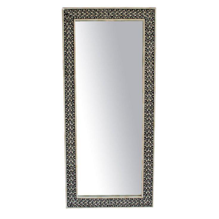 Black & White Full Length Mirror on Chairish.com