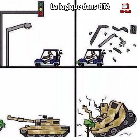 La logique dans GTA... #Jeux #Funny