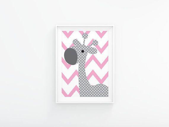 Pink and grey printable nursery decor