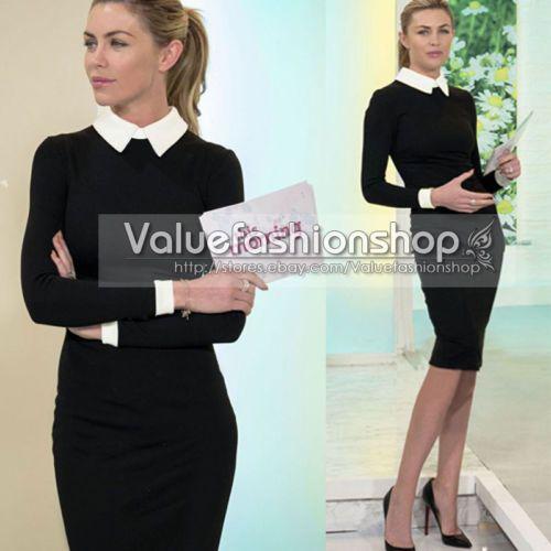 Women Elegant Spring Office Business Formal Tunic Cocktail Stretch Pencil Dress | eBay