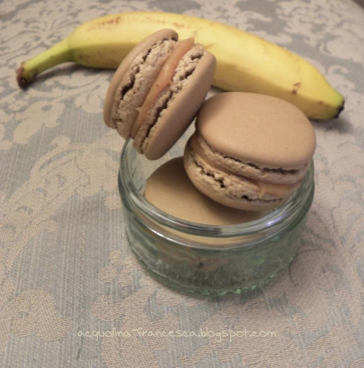 Acquolina: macaron con caramello alla banana