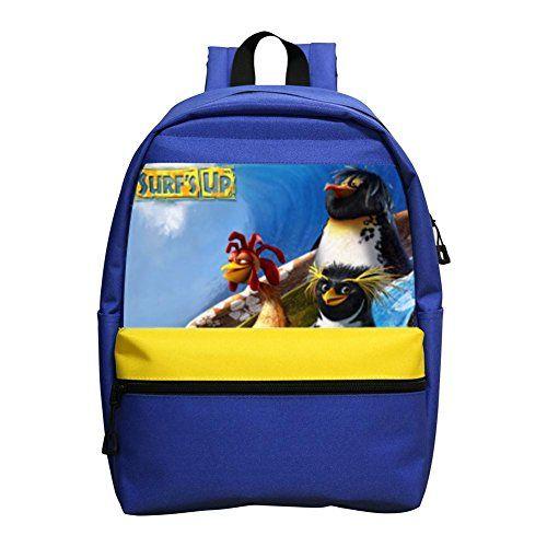 Aaronna Surf's Up Movie kid's Classic Backpack Unisex Water Resistant School Rucksack Travel Backpack