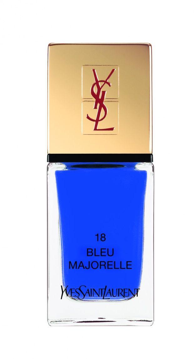 Yves Saint Laurent La Laque Couture in Bleu Majorelle   hellostash.com
