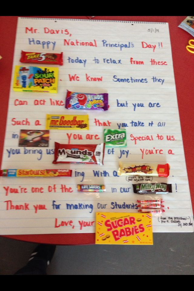 A cute Principal Appreciation Day poster we made for the ...