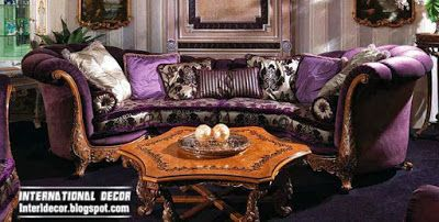 luxury purple sofa round design for living room, purple furniture