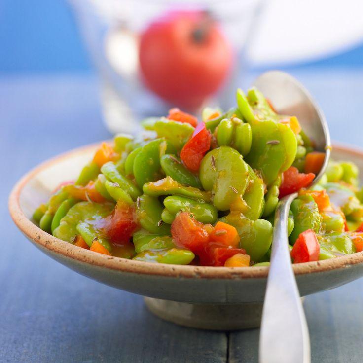 Découvrez la recette Fèves fraîches au cumin sur cuisineactuelle.fr.
