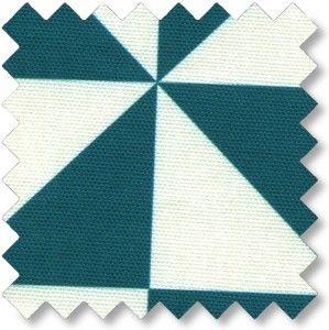 Halvpanama m/trekant Varm turkis Udsnit 10x10 cm. Økotex standard 100, Krymp 5% 100% BOMULD Bredde: 140 cm.  - stof2000.dk