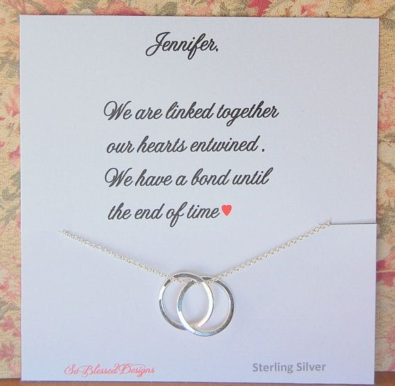Friendship necklace, for your friend, best friend gift, sister gift, connecting rings necklace, soul sisters, cousins Such a beautiful necklace
