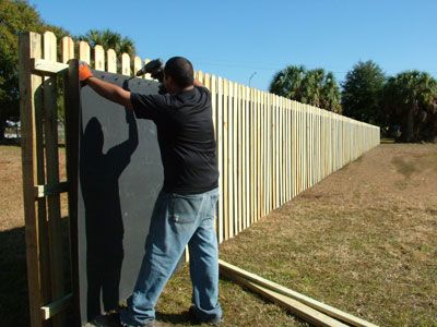 48 best images about fencing on pinterest fence design for Best sound barrier insulation