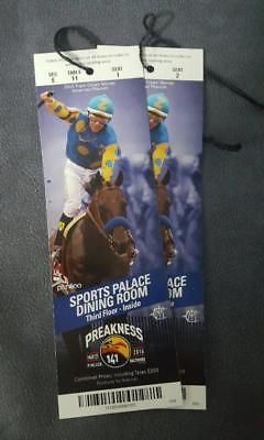 Horse Racing 429: 2016 Preakness Unused Complete Admission Tickets (2)--American Pharoah -> BUY IT NOW ONLY: $89.99 on eBay!