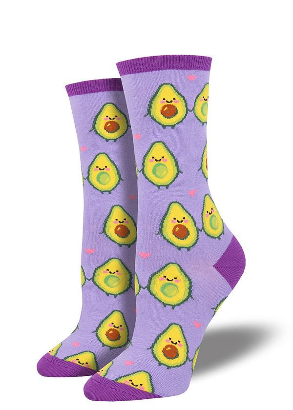Avocados ~ by Crazy Awesome Socks ~ Choice 1 or 2 Pairs