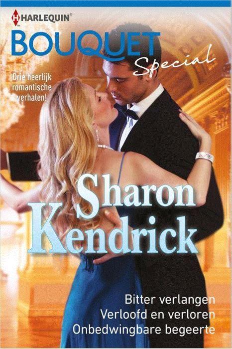 Sharon Kendrick special 3  (1) BITTER VERLANGEN - Aangezien Samantha al jaren droomt van een carrière als fotografe grijpt ze de kans om de assistente van de beroemde fotograaf Declan Hunt te worden met beide handen aan. Helaas ontdekt ze al snel dat samenwerken met hem absoluut niet meevalt. Niet omdat hij zo arrogant en veeleisend is maar omdat hij de aantrekkelijkste man is die ze ooit heeft ontmoet! (2) VERLOOFD EN VERLOREN - Om de media af te leiden van een familieschandaal heeft…