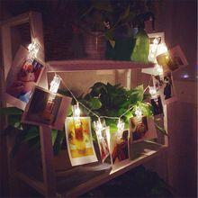 1 M 10LED/2 M 20LED fotos do cartão clipe de bateria luzes da corda luzes De Natal luzes da decoração da festa de casamento cortina de led(China (Mainland))