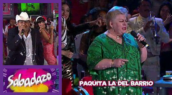 Paquita la del Barrio festejará 45 años de carrera artística en Sabadazo, mientras que Chuy Lizárraga nos llenará con su música