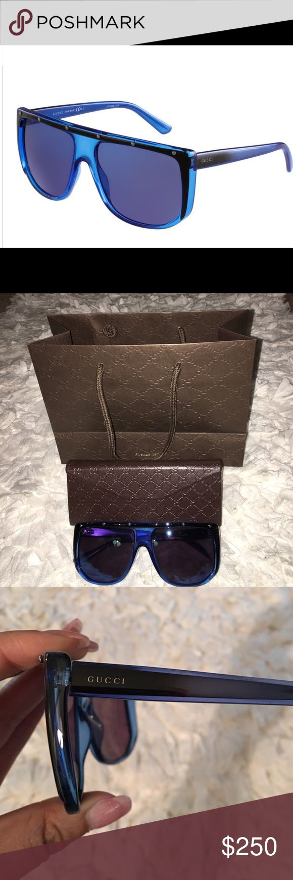 Gucci Studded Sunglasses Excellent Condition!!! Comes with original gucci shopping bag, gucci cloth, original case! SOLD OUT IN STORES!!! You don't want to miss out! Gucci Accessories Sunglasses