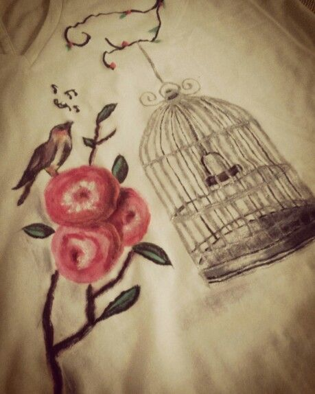 Singing bird!! Hand painted