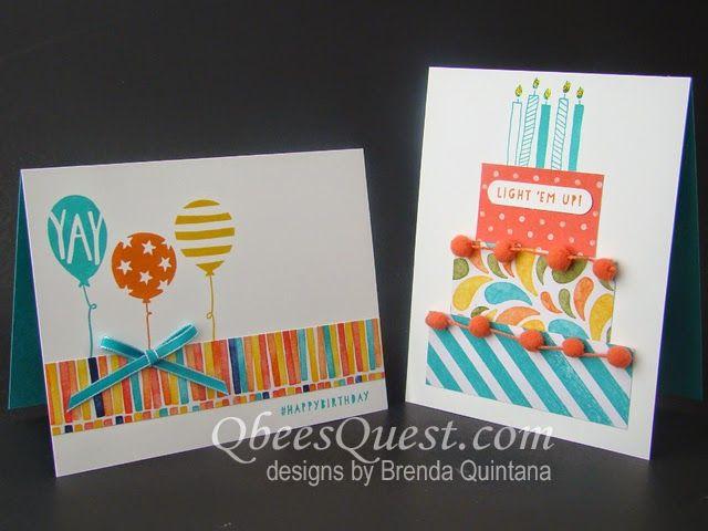Qbee's Quest: Minute Monday: Balloon Bash Birthday Cards