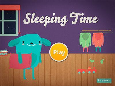 Sleeping time app entry screen catarina coutinho