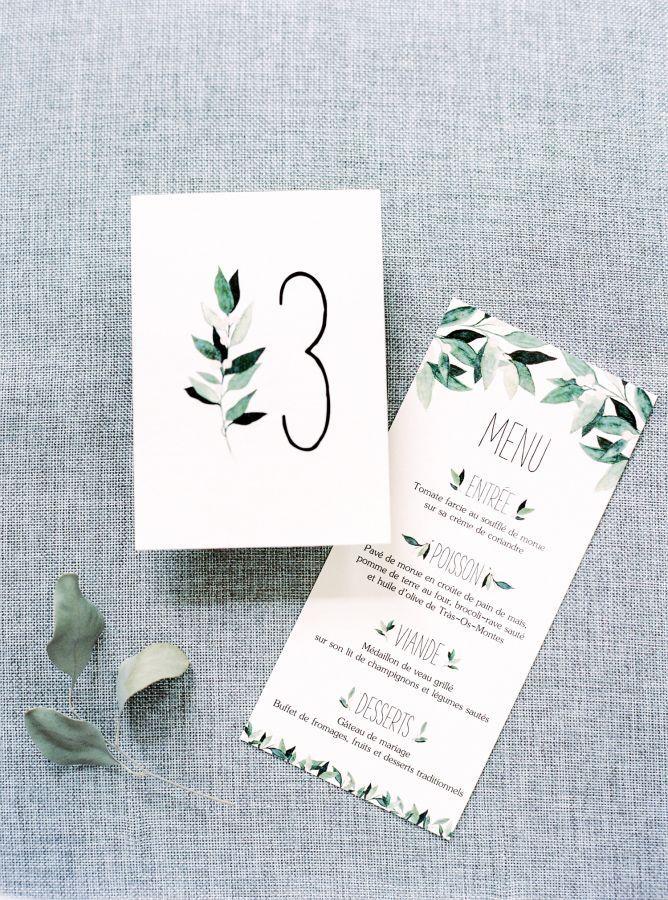 Watercolor foliage-inspired invitations: www.stylemepretty... | Photography: Brancoprata - brancoprata.com/