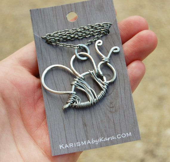 Bumble Bee Necklace. Wire Bee. Aluminum. by Karismabykarajewelry, $32.00