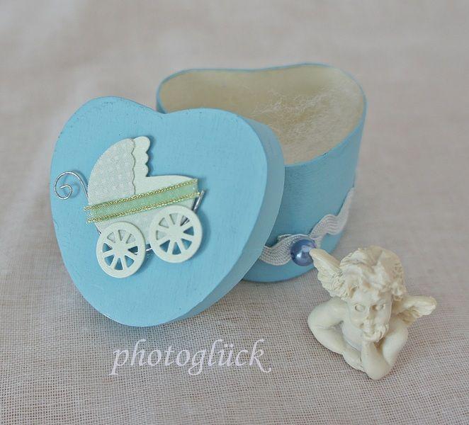 """Geschenk Geburt Taufe """"Kinderwagen"""" blau von PHOTOGLÜCK auf DaWanda.com"""