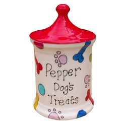 stylish way to store your pet's treats.. It can also be personalised with your own message.