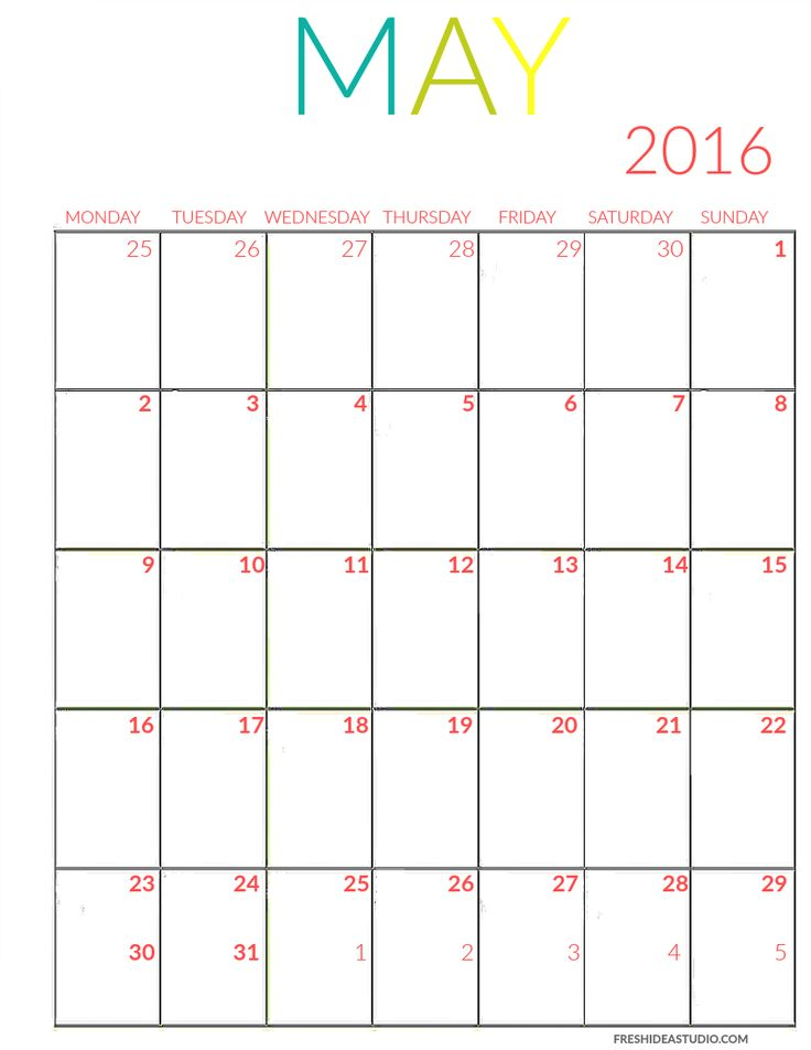 The 25+ best May calendar 2016 printable ideas on Pinterest 2016 - printable monthly planner
