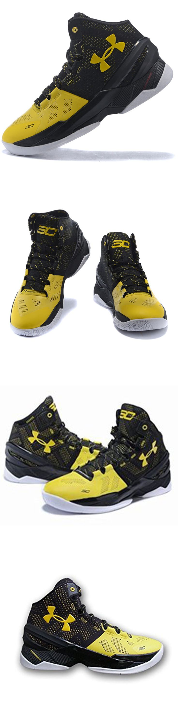 Men 158971: Under Armour Stephen Curry 2 Long Shot Black Taxi 1259007 004 BUY IT NOW ONLY: $125.0