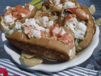 "Our Traditional Lobster Roll Kits Are A Great Gift Idea! Sweet Maine Lobster Meat, Classic ""New England"" Style Buns, Celery, And Hellman's Mayo! It's All Included!"