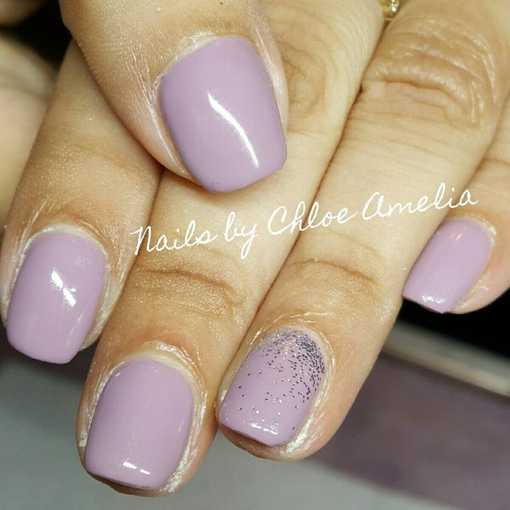 Purple nails- Calgel Manicure