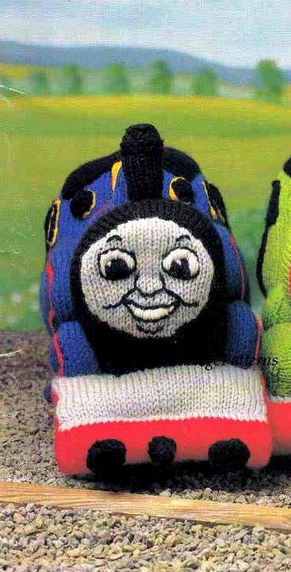 Thomas Toy Knitting Pattern ... Thomas The by ChicVintagePatterns