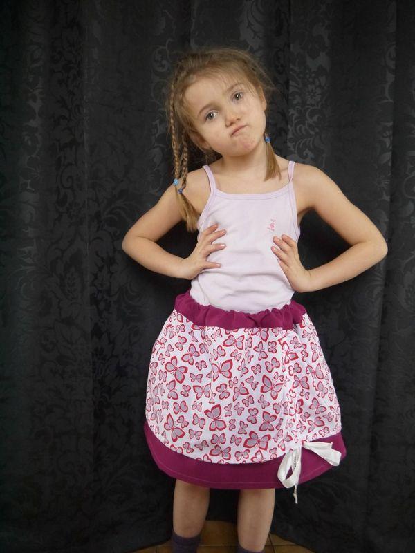 Jupe superposée - tirée du livre Basiques pour petites filles
