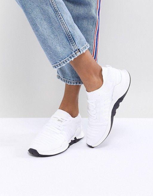on sale 8823f baaa9 adidas Originals  adidas Originals EQT Racing Adv Primeknit Sneakers In  White
