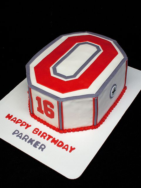 Ohio State Cake | Flickr - Photo Sharing!  Our second Ohio State cake. This one turned out pretty good.  http://www.sweetlywildbakes.com