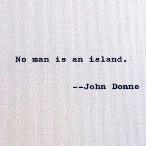 New to RogueryPress on Etsy: John Donne quote; No man is an island; Early Modern English quotation; motivational quote; inspirational quote (15.00 USD)
