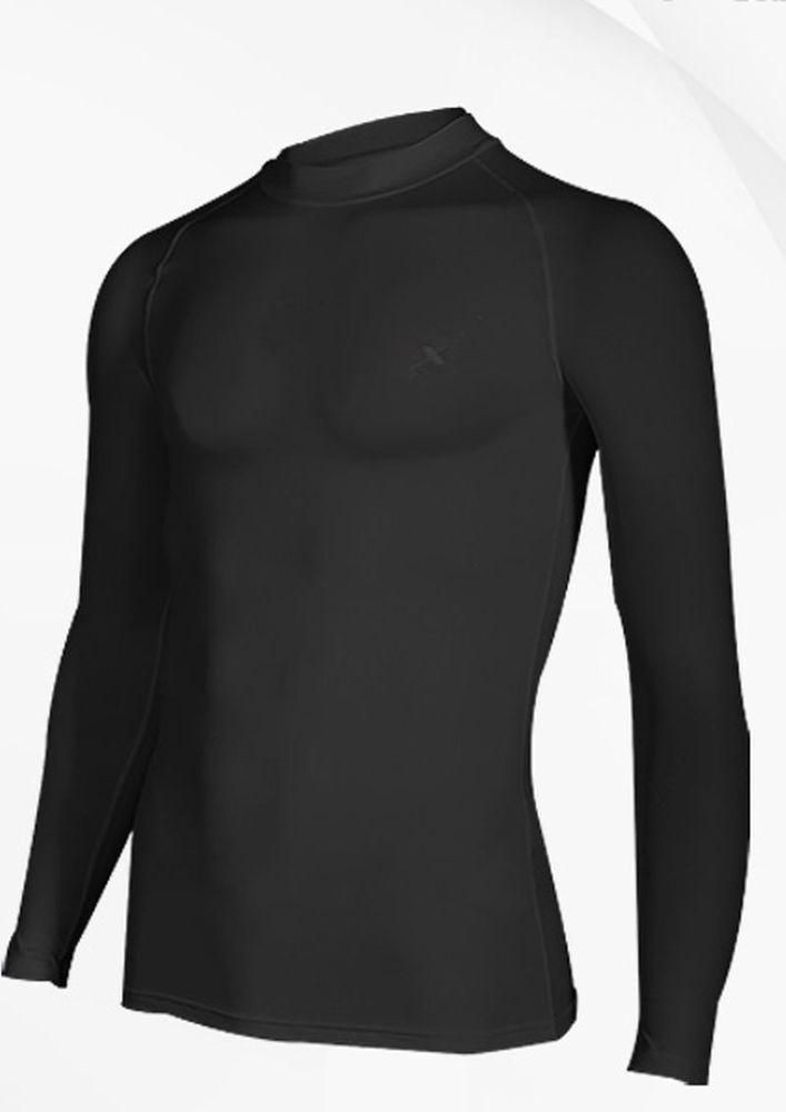 Compression Mens long sleeve shirts Black Size L #Unbranded