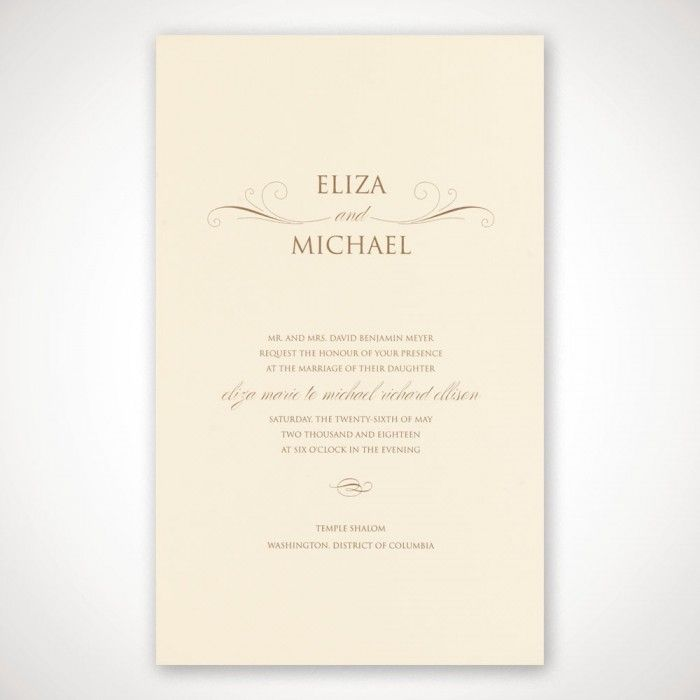wedding invitations from michaels crafts%0A Personalized Echo Wedding Invitation   eInvite com