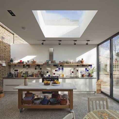 vista do interior da cozinha