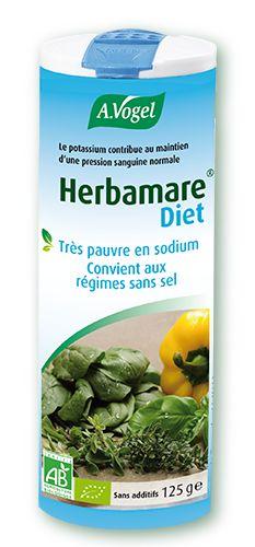 Le sel de régime Herbamare® Diet est préparé à base de chlorure de potassium