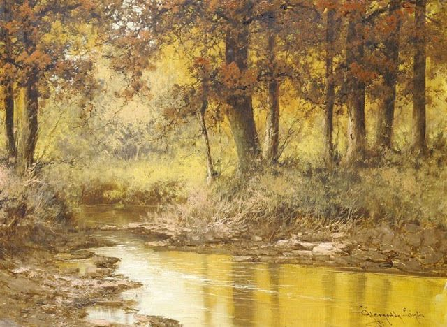 Landscape Painting by Laszlo Neogrady (1896-1962) Hungarian Artist ~ Blog of an Art Admirer