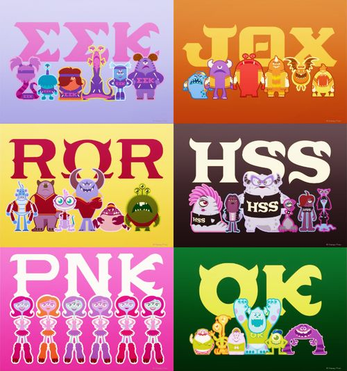 Monsters University Fraternity and sorority poster | cute!!