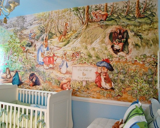 37 best images about beatrix potter on pinterest nursery for Baby mural wallpaper