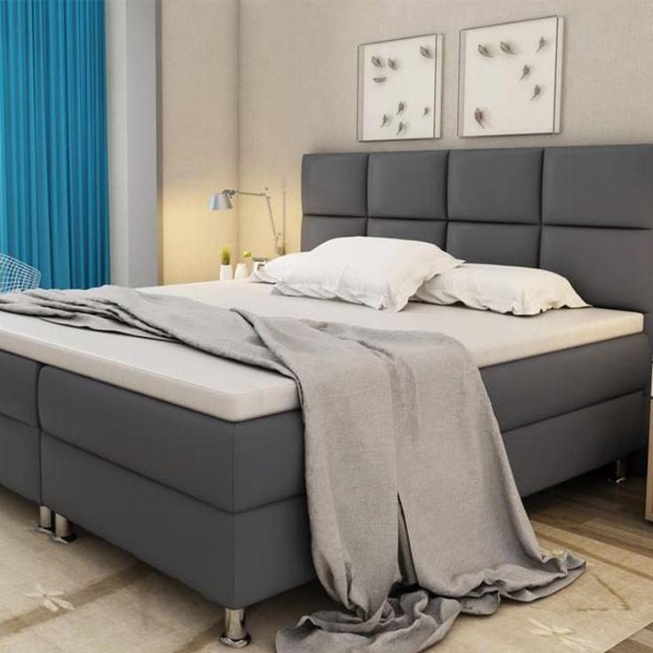 Łóżko ciemnozielone tapicerowane welur 180 x 200 cm FITOU