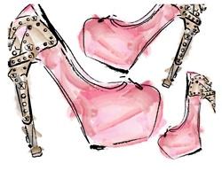 Alexander McQueen. pink.