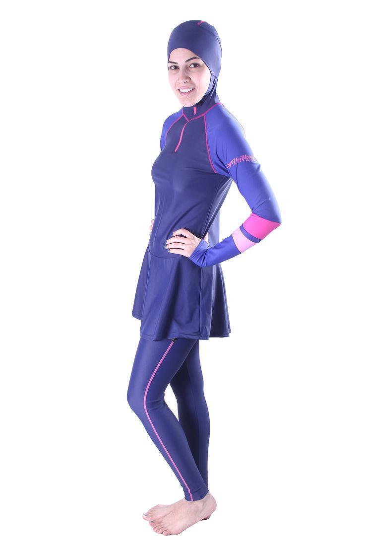Veilkini - veilkini dynamic full cover swimsuit Navy
