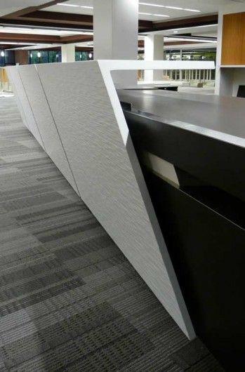 Precast Reception Desk | University of Victoria | D-ROC | Ductal Concrete | Victoria | Vancouver | Vancouver Island | B.C. | British Columbi...