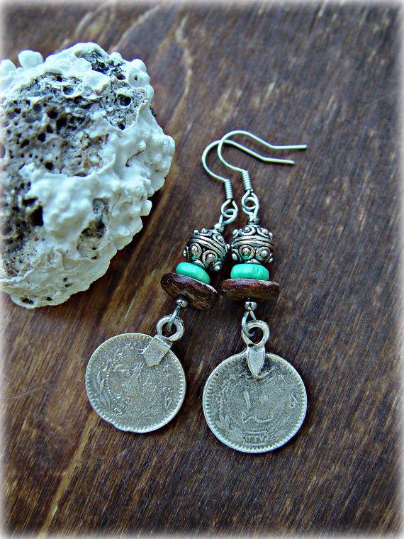 Gypsy Earrings Boho Hippie Earrings Ethnic by HandcraftedYoga