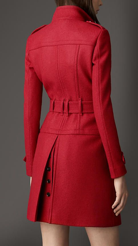 Structured Boiled Wool Coat | Burberry
